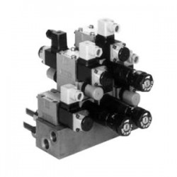 Multistation manifolds for controls ready for connection in vertical stacking design Type HSR 04
