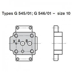 Subplates size 10 with porting pattern according to DIN 24340 form E and ISO 6264