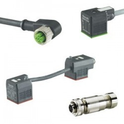 Mating connectors and cable sets for valves and sensors