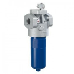 Inline filter with filter element according to DIN 24550 Type 445 LEN