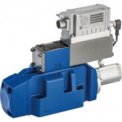 Bosch Rexroth 4/3 High-response Directional Valves, Pilot Operated, with Electrical Position Feedback and Integrated Electronics