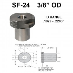 Carr Lane Slip/Fixed Renewable Bushings 3/8 OD