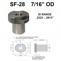 Carr Lane Slip/Fixed Renewable Bushings 7/16 OD