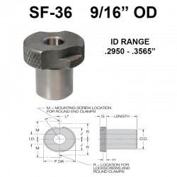 Carr Lane Slip/Fixed Renewable Bushings 9/16 OD