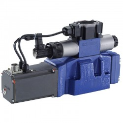 4/3 Pilot operated directional control valves with electrical position feedback and integrated electronics (OBE) 4WRTE