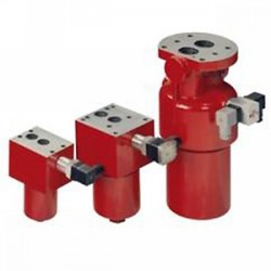 Hydac DFP Pressure filter for panel mounting, reversible Flow DFPF and SSDFP stainless steel, flange-mounting