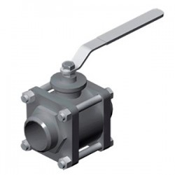 Hydac Weld-Type Low Pressure 2-Way Ball Valves Type KHM3S
