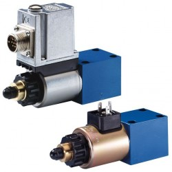 Direct operated proportional pressure relief valves without / with integrated electronics (OBE) DBET(E)
