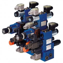 Bosch Rexroth multistation manifolds for controls ready for connection in vertical stacking design Type HSR 06