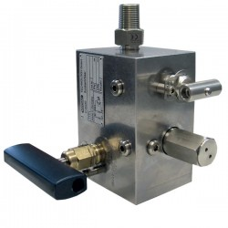Hydac 3-Way safety and Shut-Off Block SAF /DSV