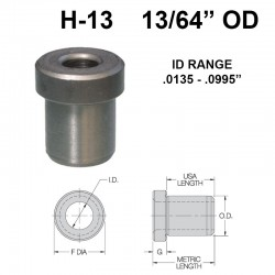 Carr Lane Head Press Fit Bushings 13/64 OD