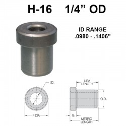 Carr Lane Head Press Fit Bushings 1/4 OD