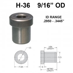 Carr Lane Head Press Fit Bushings 9/16 OD