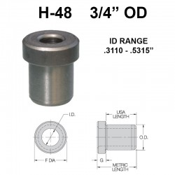 Carr Lane Head Press Fit Bushings 3/4 OD