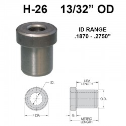 Carr Lane Head Press Fit Bushings 13/32 OD