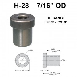 Carr Lane Head Press Fit Bushings 7/16 OD