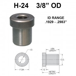 Carr Lane Head Press Fit Bushings 3/8 OD