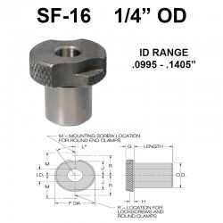 Carr Lane Slip/Fixed Renewable Bushings 1/4 OD