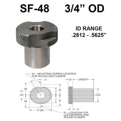 Carr Lane Slip/Fixed Renewable Bushings 3/4 OD