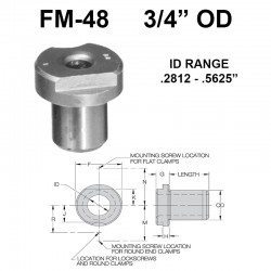 Carr Lane Flat Milled Renewable Bushings 3/4