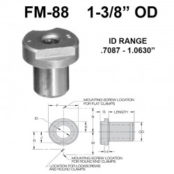 Carr Lane Flat Milled Renewable Bushings 1-3/8 OD
