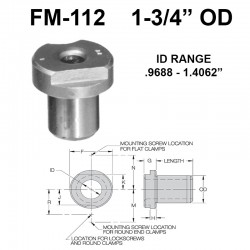 Carr Lane Flat Milled Renewable Bushings 1-3/4 OD