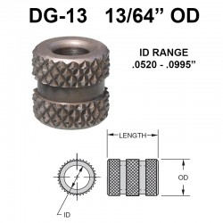 Carr Lane Diamond Grove Bushings 13/64 OD
