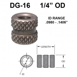 Carr Lane Diamond Grove Bushings 1/4 OD
