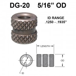 Carr Lane Diamond Grove Bushings 5/16 OD