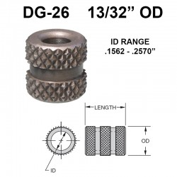 Carr Lane Diamond Grove Bushings 13/32 OD