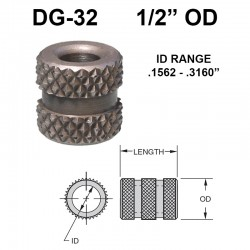 Carr Lane Diamond Grove Bushings 1/2 OD
