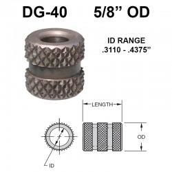 Carr Lane Diamond Grove Bushings 5/8 OD