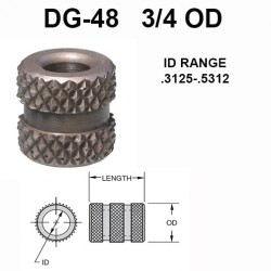 Carr Lane Diamond Grove Bushings 3/4 OD
