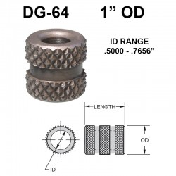 Carr Lane Diamond Grove Bushings 1 OD
