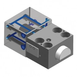 Wedge Clamps for Tapered Clamping Edge with Cooling Circuit for Temperatures up to 250 °C - HILMA WZ 2.2410