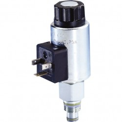 Bosch Rexroth 2/2 Directional Seat Valve, Direct Operated with Solenoid Actuation KSDE.8 N/P