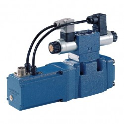 Pilot operated proportional directional valves, with integral electronics (OBE) and electrical position feedback 4WRKE