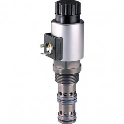 Proportional flow control valves with integrated pressure compensator KUDSR